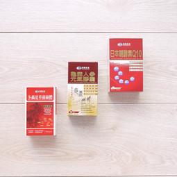 冬蟲夏草+龜鹿人參+酵素Q10健康食品彩盒