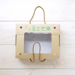 套袋土芒果水果一體成型手提盒