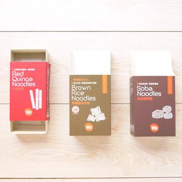 紅藜麥麵+有機糙米粉+蕎麥麵-麵條展示盒