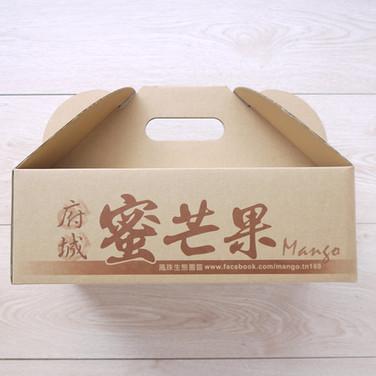 府城芒果手提水果牛皮彩箱