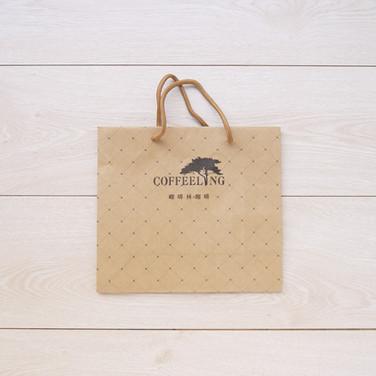 咖啡豆牛皮手提牛皮紙袋