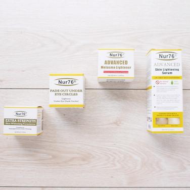 強效美白霜+老人斑霜+蠶絲蛋白+去斑凝膠彩盒