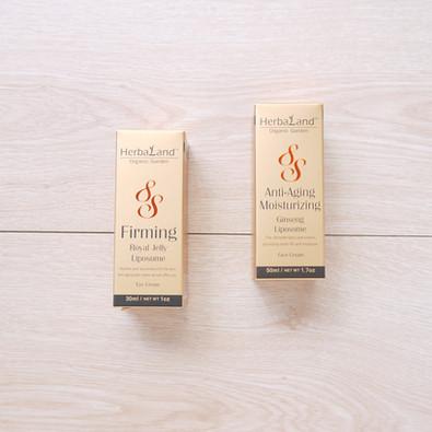 抗齡乳霜+抗皺眼霜保養品盒