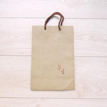 草生茶葉手提牛皮紙袋