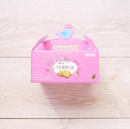 手作牛軋糖蘇打餅造型手提盒