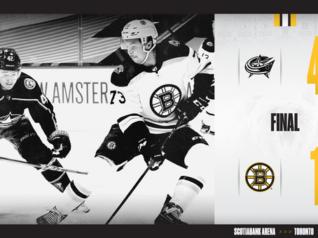 Bruins Post-game breakdown: Game # - 1:  BOS vs CBJ