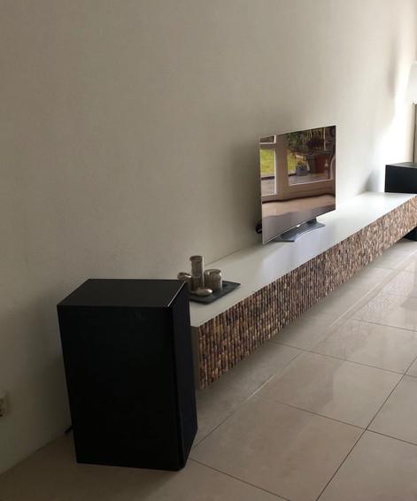 Wandmeubel: Kokosnoten-kast