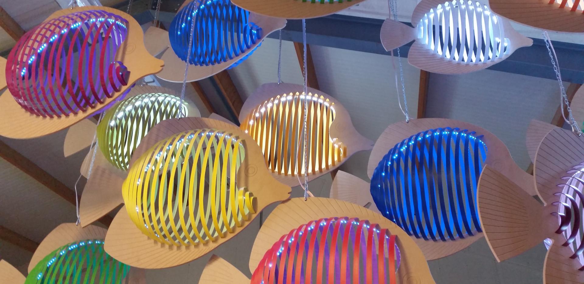 Vissenschool Lamp