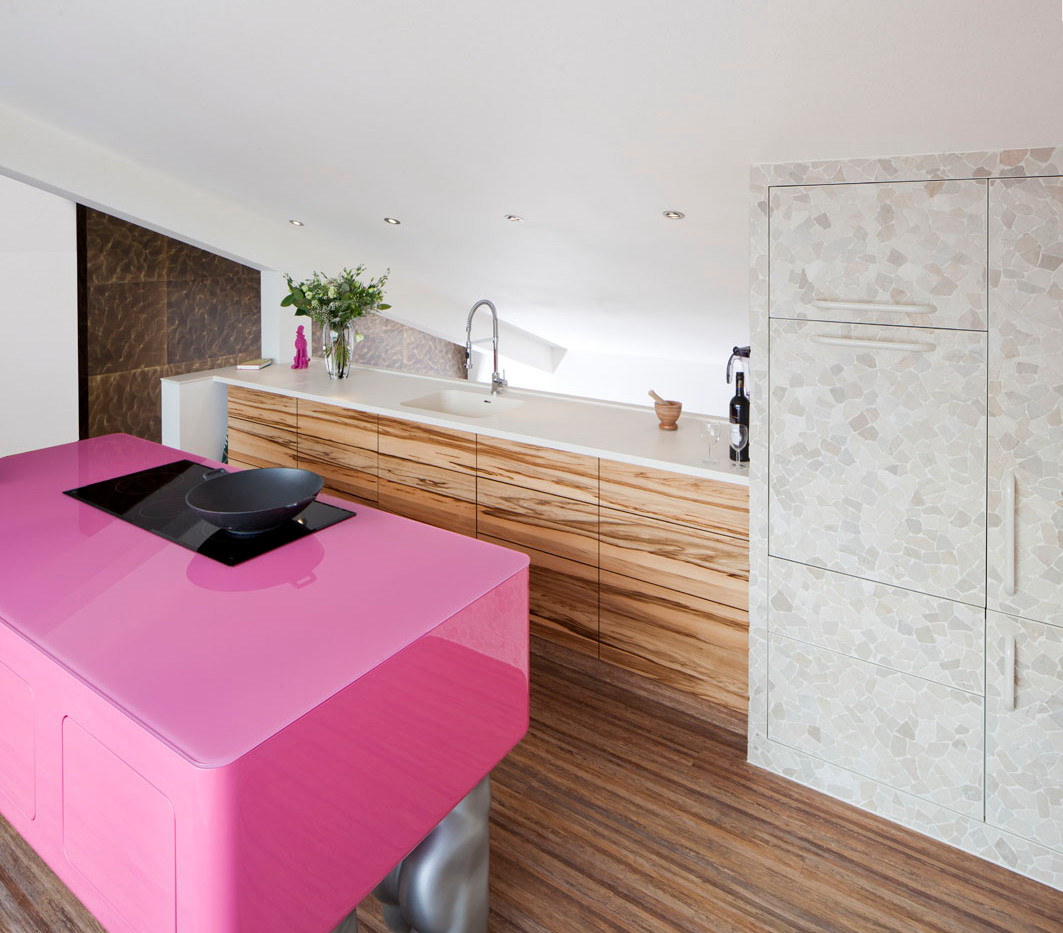 Roze Moderne Keuken