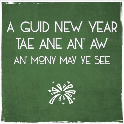 Time for a wee swallie greetings card with envelope 624 in packs a guid new year greetings card with envelope 624 m4hsunfo