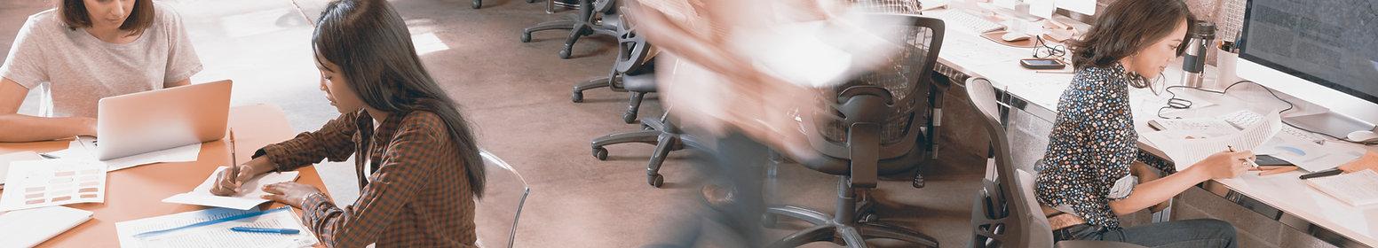 escritório ocupado
