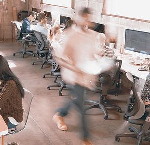 geschäftiges Büro