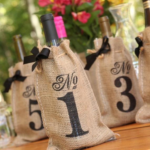 Номерки на столы в винной тематике