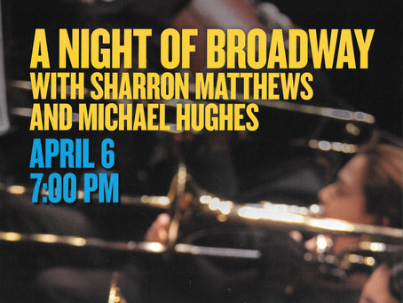 Michael to perform A Night of Broadway with Sharron Matthews and the Brampton Concert Band