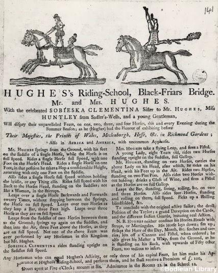 Hughes'_Riding_School_Blackfriars_c._177