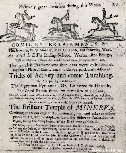 Astley's_Riding_School_Billboard_1776_©B