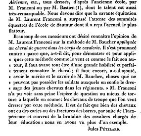 Petelard 1844 Franconi Saumur Baucher 2.