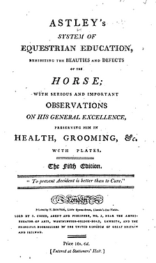 Astley's System of Equestrian Education,