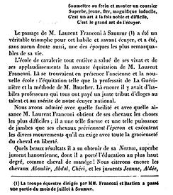 Petelard 1844 Franconi Saumur Baucher 1.