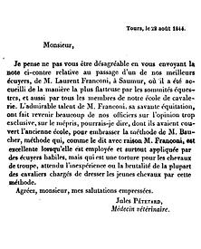 Petelard 1844 Franconi Saumur Baucher 0.
