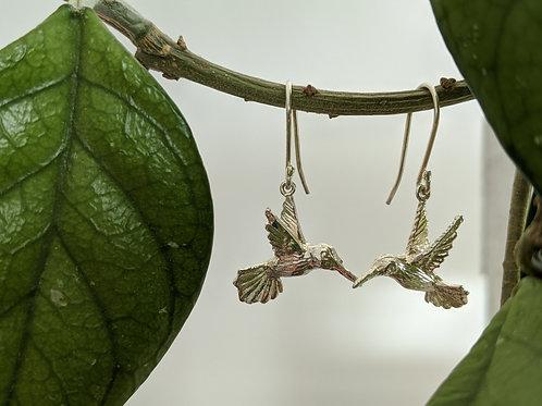 Aretes colibri gancho