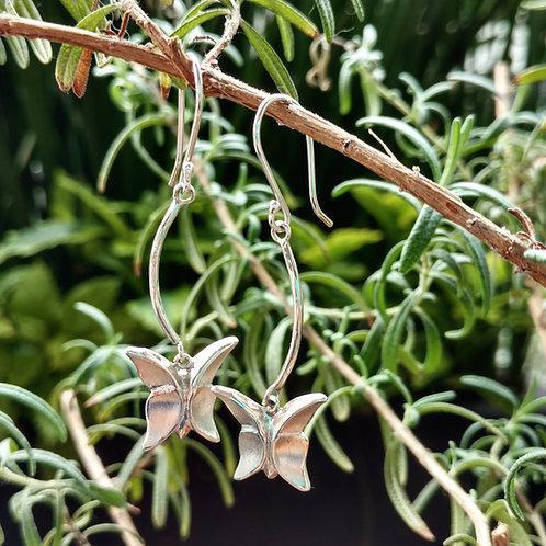Aretes mariposa gancho -rama