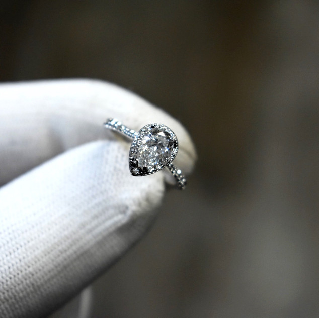 Pear Cut Engagemnt Ring