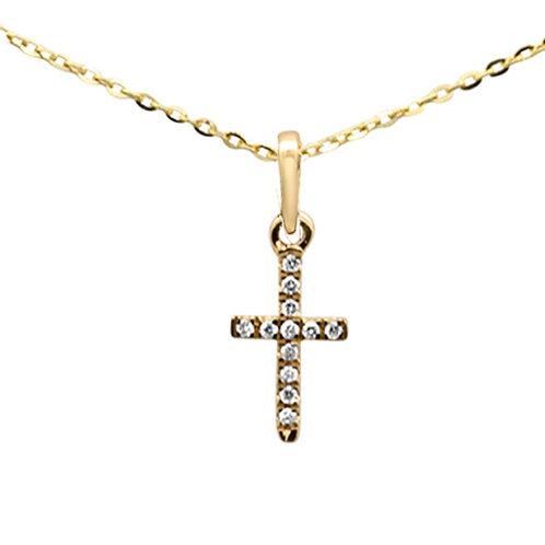 14k Micro Cross Pendant
