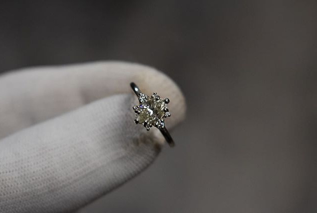 Custom Marquise Cut Engagement Ring