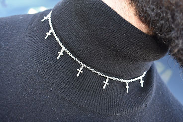 Sterling Silver JB Cross Chain