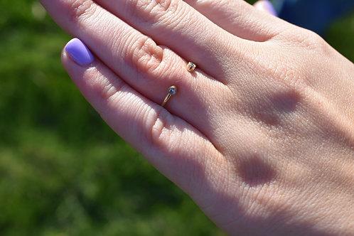 Double Open Bezel Diamond Ring