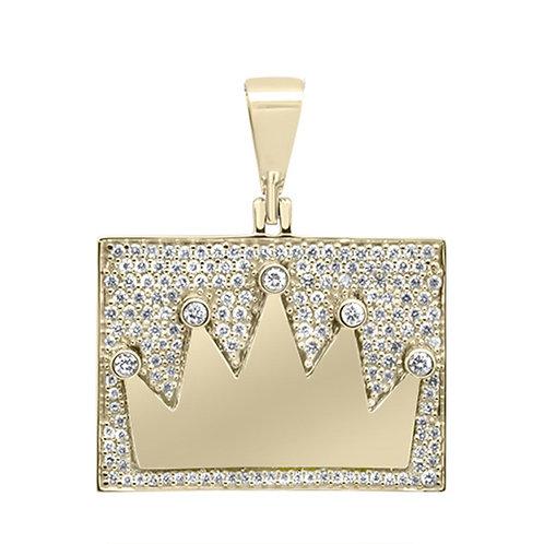 10k Kings Crown Pendant