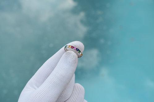 JB Rainbow Eternity Ring
