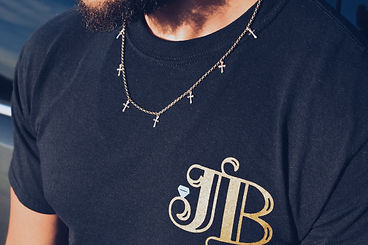 JB Cross Necklace in Yellow Gold