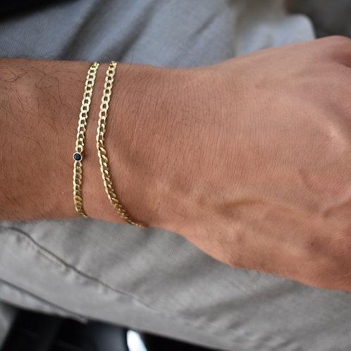 Custom Gold JB Mini Cuban Bracelets