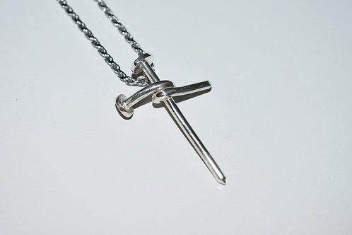 Handmade Nail Cross Pendant