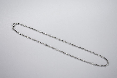 Sterling Silver 2.5mm Mooncut Bead Chain