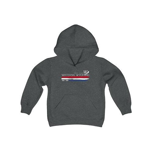 Youth Heavy Blend Hooded Sweatshirt   Waterski Wyoming