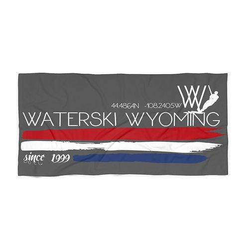 Beach Towel   30 x 60   Waterski Wyoming