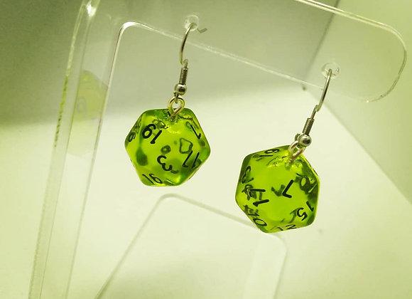 D&D D20 Dice Earrings