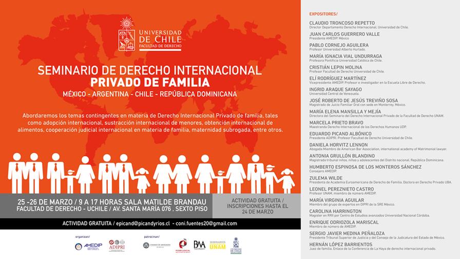 Ponentes del Seminario de Derecho Internacional Privado de Familia.