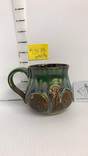 Swirls Green/Brown Mug #134