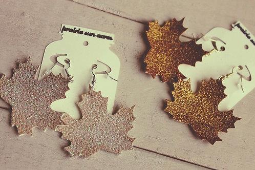 Maple Leaf Dangle Earrings