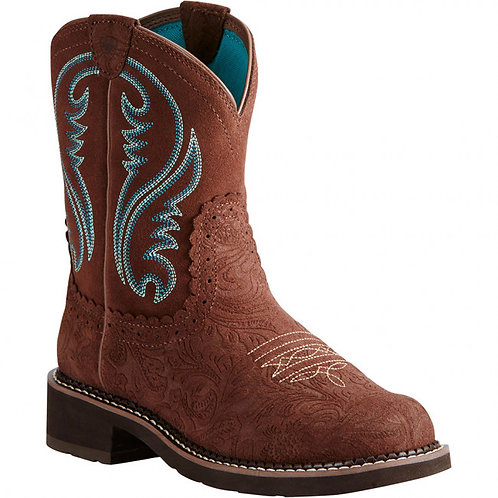 Ariat Fatbaby Women's Heritage Tooled Brown Boots