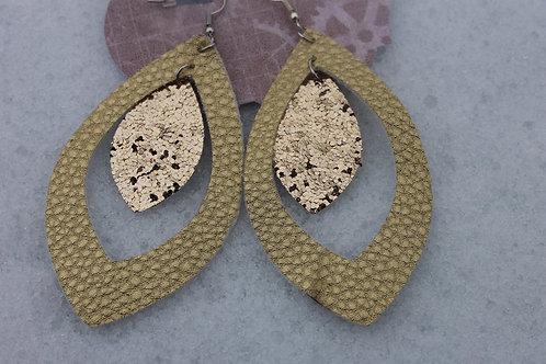 Gold on Gold Dangle Earrings