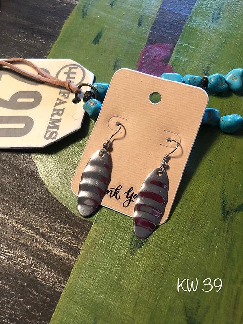 Silver Wave Spinner Earrings