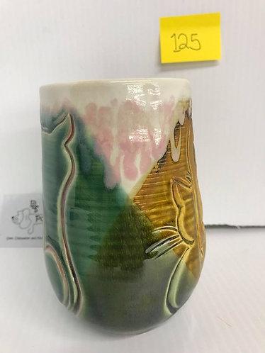Cats Green/Tan Mug #125
