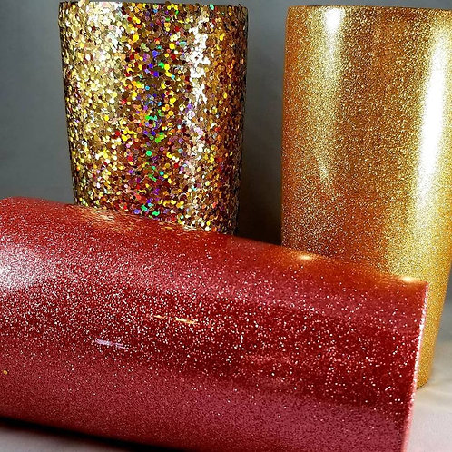 Solid Glittered Tumbler