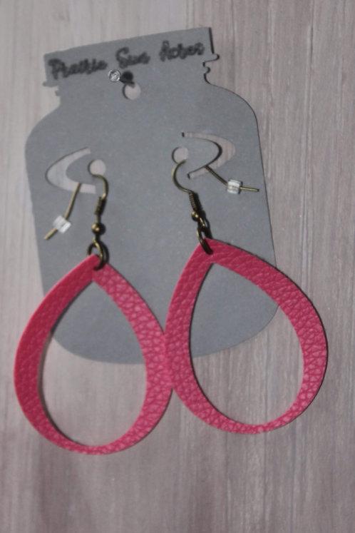 Rose Cut Out Teardrop Earrings