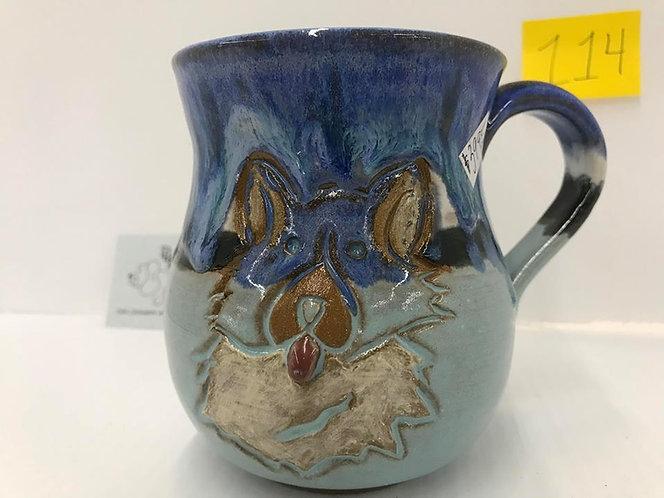 Corgi Front/Rear Blues Mug #0114
